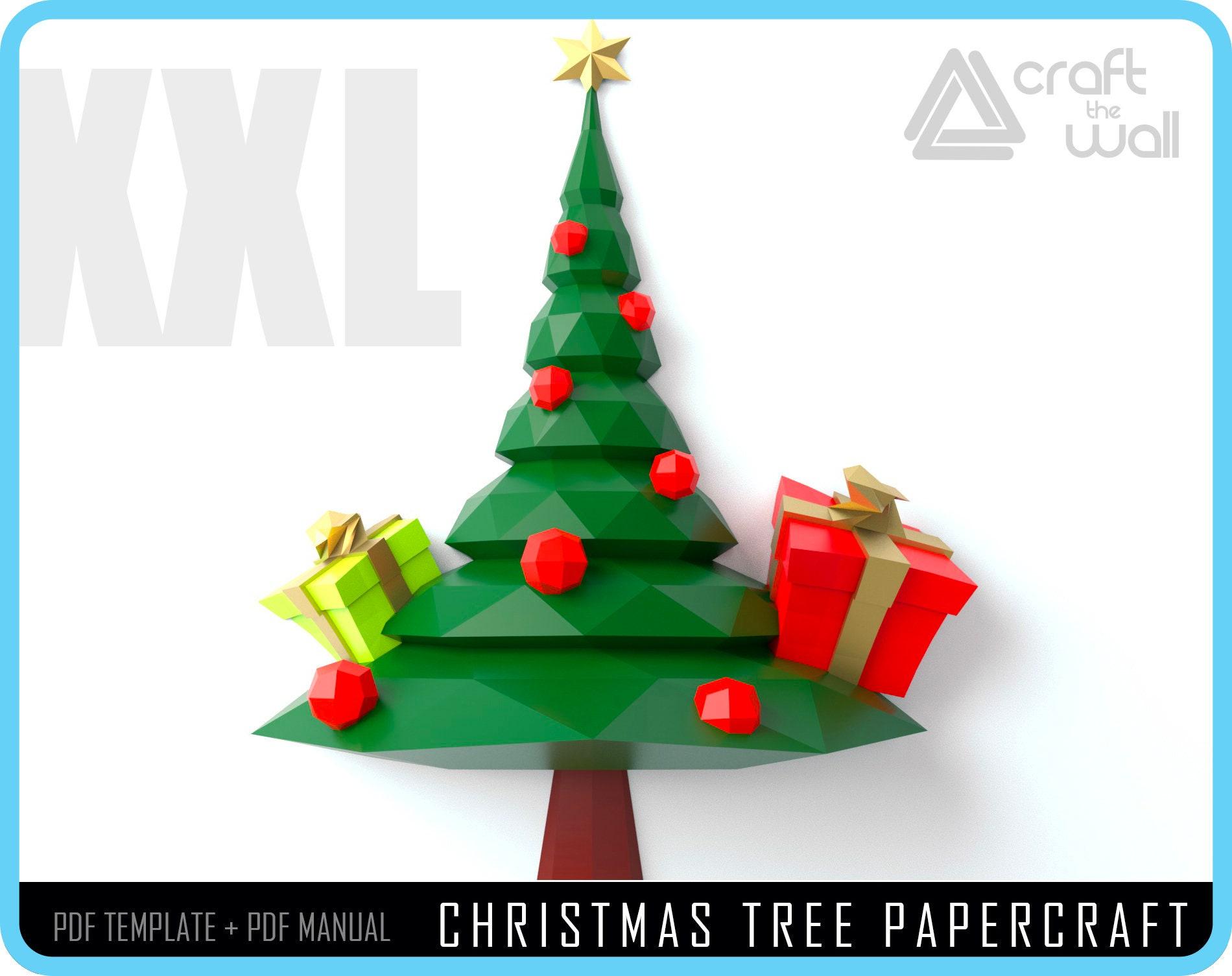 PAPERCRAFT CHRISTMAS Tree Papercraft DIY Christmas papercraft