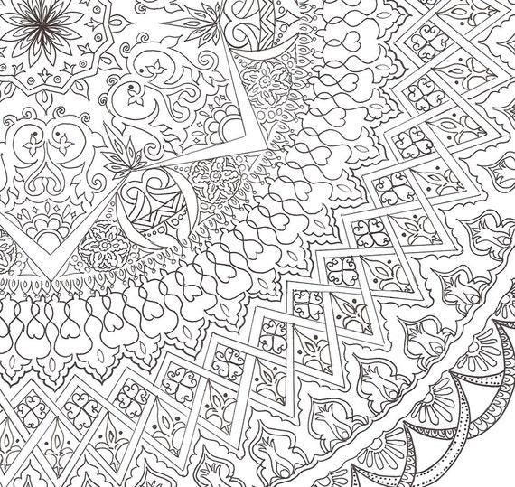 Mandala-Färbung Poster handgemacht DIY Familie und Freunde