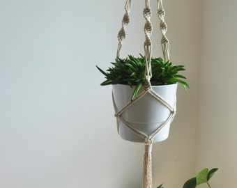 macrame plat hanger, hanging planter, boho plant hanger, hanging planter indoor, boho wall planter, plant holder, rope macrame planter,
