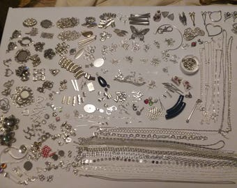 Massive Silver Jewelry Making Kit silver/sterling silver/stainless