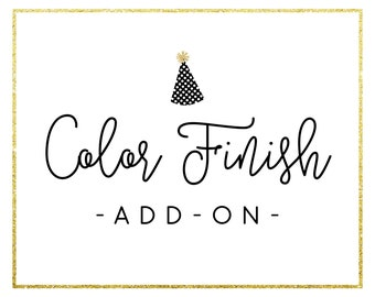 Color Finish Add-On Listing