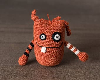 Bogart the Mini Monster; stress ball, amigurumi, crocheted, crocheted critter, executive toy, softie, gift.