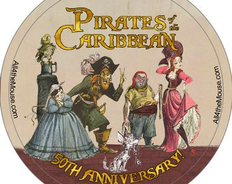 All 4 the Mouse Pirates of the Caribbean Buttons