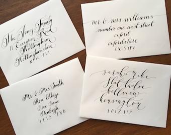 Handwritten Calligraphy Envelopes