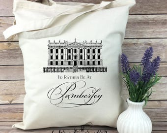 I'd Rather Be at Pemberley Jayne Austen Inspired Light Weight Tote Bag