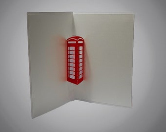 Telephone Box pop out card template