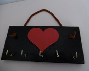 Love-Heart Key Hooks