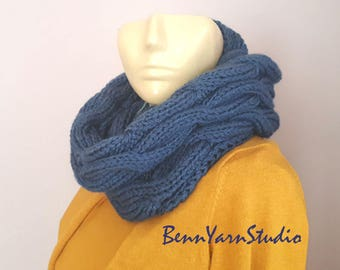 Women Knit Infinity Scarf_Winter Infinity Scarf_Spring Scarf_Hooded Scarf_Neckwarmer Womens Knit_Cable infinity Scarf_Knit Cowl