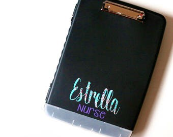 Lily Inspired Clipboard Case