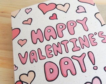 Happy Valentine's Day Card | Illustrated Love Heart Greetings Card for your Better Half | UK Shop