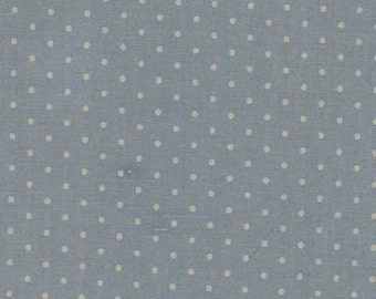 Mas d'Ousvan - Dot Blue Tea - 1/2yd