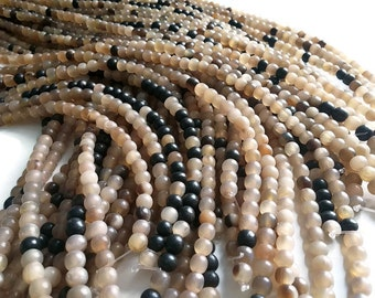 65 Natural horn beads 6-7mm - eco friendly and natural horn beads (PN403)