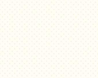 1/2  Yard- CREAM  La Creme Swiss Dot by Riley Blake Designs- C600-01