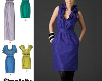Cynthia Rowley Dress Simplicity 2497 Size 4-12