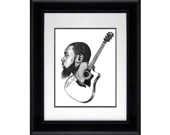 Original Drawing - Mali Music