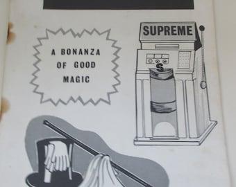 Vintage 1960s Magic and Tricks Catalogue - Jackpot