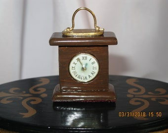 Miniature Carriage Style Clock sized for Barbie or similar fashion dolls