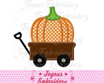 Instant Download Thanksgiving Wagon Pumpkin Applique Machine Embroidery Design NO:1379
