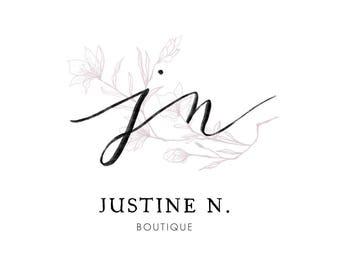 Floral logo, Branding package, Custom logo design, Premade logo, Logo design branding, Small business logo, Blog logo, Photographer logo