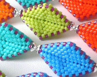Rhombus Beaded Beads Tutorial: Instant Downloadable Pattern PDF File