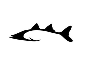 hook shaped redfish fishing vinyl diecut decal car truck rh etsy com free fish clipart black and white redfish tail clipart