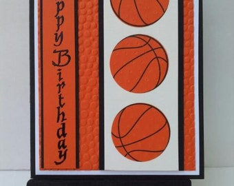 Basketball Birthday Card 3-D