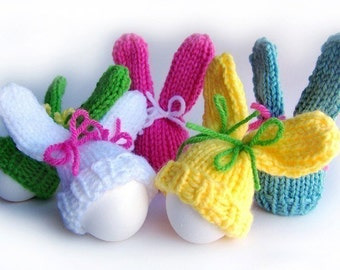 Knitting Pattern, Easter Bunny Easter Patterns, Bunny Pattern, Easter Knitting Pattern, Easter Egg Cozy Pattern, Egg Hat Pattern, Egg Warmer