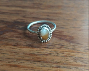 One-of-a-kind Beach Stone Ring