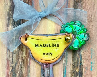 Personalized Margarita / Drink / Mexico / Vacation / Food / Fruit Keepsake Polymer Clay Ornament