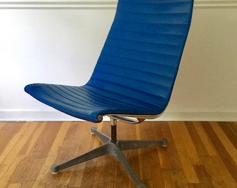 Rare Vintage Eames Herman Miller Aluminum Group Lounge Chair