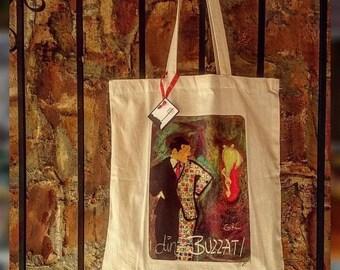 Dino Buzzati the falling girl tote bag