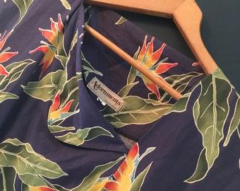 Vintage Adornments Birds of Paradise summer dress