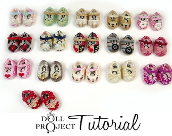 Altered Vinyl Shoes for Tiny Dolls PDF Tutorial How to Customize Little Doll Shoe Pairs for Amelia Thimble Heidi Ott tiny BJDs