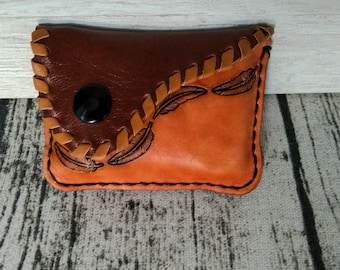Monederito leather Coin Purse single coins Unisex leather coin purses.
