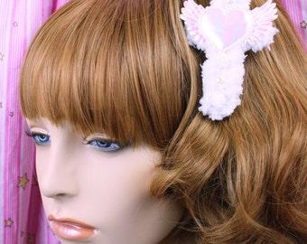 Sweet Lolita Hair Accessory-Fairy Kei Accessory-Alligator Clip-Women's Hair Accessory-kawaii accessory-Lolita head accessory-gothic