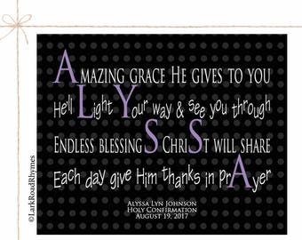 Goddaughter Gifts Baptism Gift From Godmother Baby Girl Christening Christian Nursery Decor Personalized Baptism Poem 8x10 Alyssa