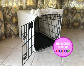 "NO FRILLS (42"") CUSTOM Dog Crate Cover"