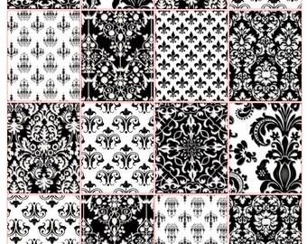 Black and White Full Box Stickers