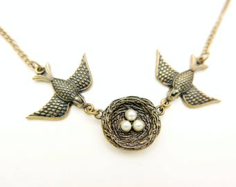 Boho Birds Nest Necklace jewelry
