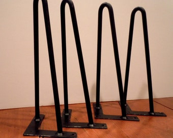 "Vintage Hair Pin Table Legs / Set of 4 - 12"" Legs"