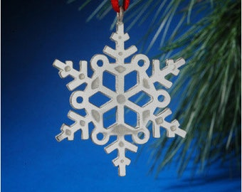 Sterling Silver Open Snowflake Ornament