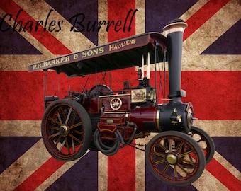 Charles Burrell, Steam Engine , Metal Sign,  No.567