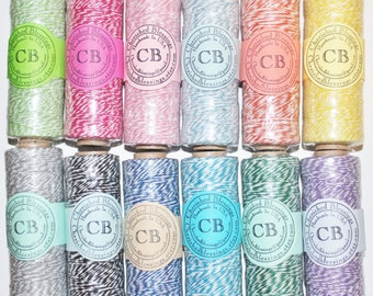 Bakers Twine NAVY BLUE 100 Yards Divine Bright tWINE Colors On A Spool 4 Ply Cotton Craft Twine Baby Shower Wedding Paper Clearance Sale