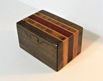 Puzzle Box Made Of Three woods