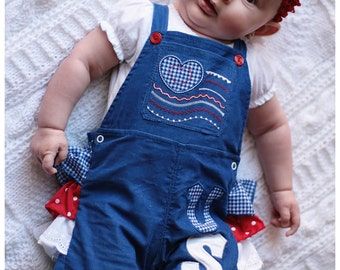 Overall / Romper/ Jumpsuit for babies - newborn up to 24 months - PDF Pattern and Instructions - Snaps at legs for easy changes