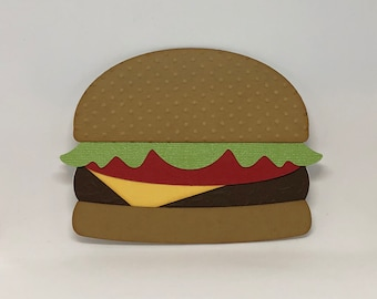 Hamburger Card, Fathers Day Card, Birthday Card, Greetings Cards, Unique Card, Cards, Handmade Cards, Happy Birthday Card, Father's Day