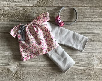 Prim Posies Outfit set for 13 inch dolls such as Dianna Effner Little Darlings