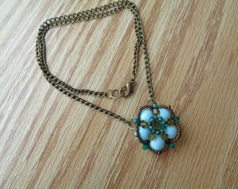 Casual Turquoise Cup Blossom Necklace