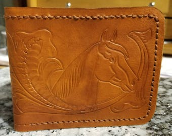 Men's Leather Wallet / Hand tooled