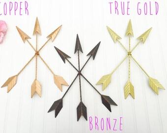 Bronze Arrows - Gold Arrows - Tribal Decor - Arrow Decor - Rustic Decor - Metal Wall Decor - Metal Arrows